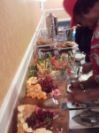 If you had been there Friday during registration, you would have been welcomed with a light buffet.